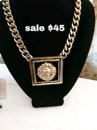 Gold tone Lion head state ment necklace t San Diego, 92105