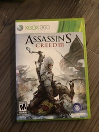 Assassin's Creed 3 Xbox 360 game case 44 km