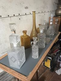 Speckled glass bottles