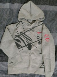 Gray and black Nike pullover hoodie