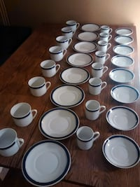 assorted white ceramic plates, mugs, and saucers 安娜堡, 48105