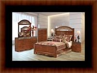 11pc Ashley cherry bedroom set with mattress Forestville