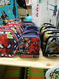 toddler's assorted backpacks