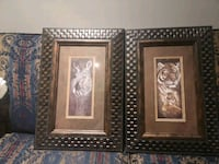 2 beautiful animal's print frames
