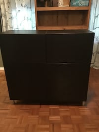 black wooden 2-drawer chest Springwater, L9X