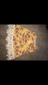 white and pink floral sleeveless dress Oregon City, 97045