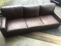black leather 3-seat sofa Gaithersburg, 20877