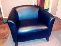 Black Leather Chair  Clinton, 39056