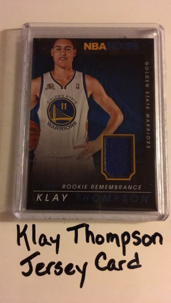 newest bcccc 3d016 Klay Thompson Washington State Cougars Golden State Warriors All Star Guard  2014 Jersey Card