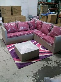 purple and white floral sectional couch City of Orange, 07050