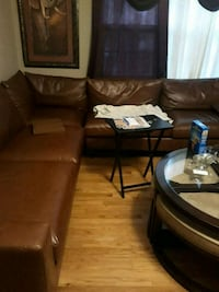 Soft leather sectional Wilmington