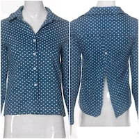 black and white polka dot zip-up jacket Québec, G1R 5G4