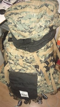 Black and brown camouflage backpack ILBE USMC Hamilton, L8P 4H9