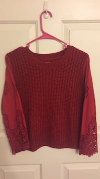red scoop-neck sweater Rowland Heights, 91748