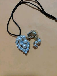 silver-colored and blue gemstone pendant necklace West Hollywood, 90046