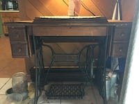 Old Sewing Machine with Cabinet Falling Waters