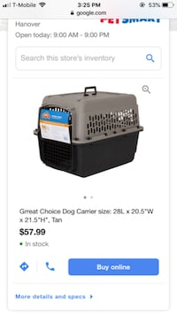 Animal kennels- airline approved Odenton
