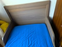 Smaller baby  bed with mattress for sale,$65, really clean and strong. San Leandro, 94579
