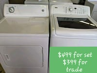 white clothes washer and dryer set 284 mi