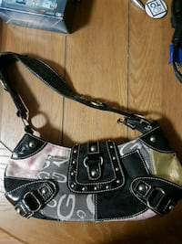 black and gray leather shoulder bag Toronto, M4Y 2K2