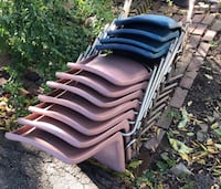 Pink and blue heavy duty chairs. Good for cookouts, parties or to rent out. Somerville, 02145