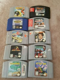 assorted Nintendo 64 game cartridges Surrey, V3S 3M6