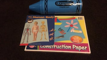Crayon bank construction paper