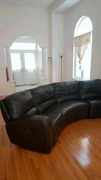 black leather sectional sofa with ottoman Vaughan, L6A 3P3