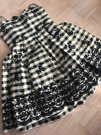 women's black and white plaid floral spaghetti strap midi dress Richmond Hill, L4C 8B7