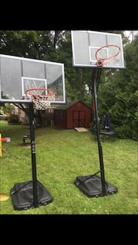 Basketball Adjustable portable backboard hoop great shape are you the proud parents of the next LeBron then you $200 each or $300 for both    Albany, 12210