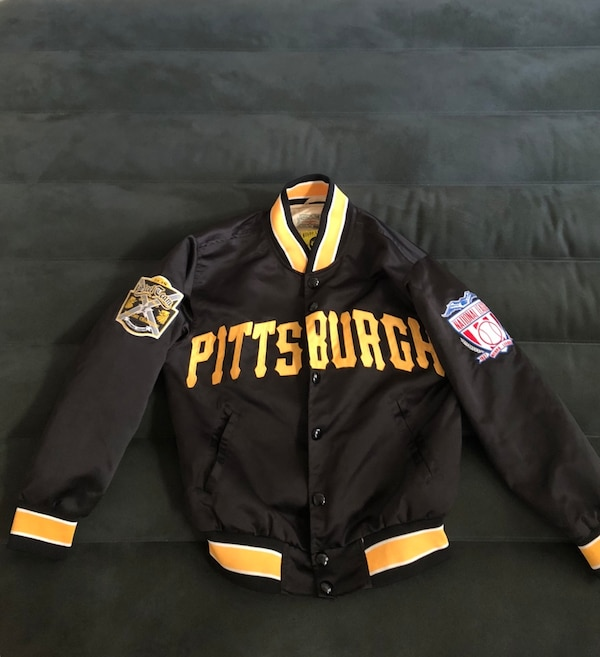 los angeles c317e 3cd01 black and yellow Pittsburgh Steelers jacket