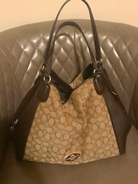 Brown and black coach monogram leather tote bag Gainesville, 20155