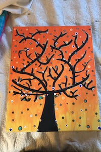 Orange to yellow ombré tree painting  Vaughan, L4L 8Z6