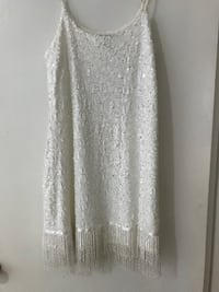 ASOS Sequin White Dress with Beading New Westminster, V3L 1B9