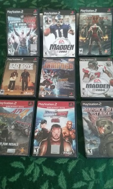 assorted PS2 came case lot
