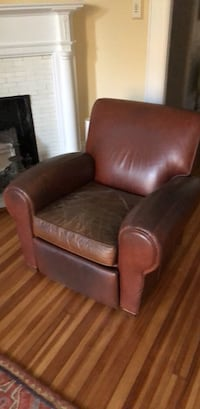 brown leather sofa chair with ottoman Washington, 20009