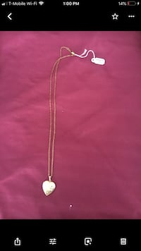 Gold colored necklace with pendant Severn, 21144