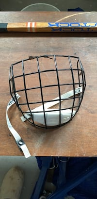 Can hockey face mask.