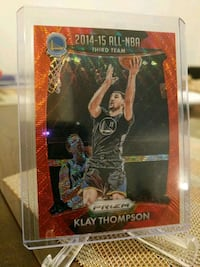 Warriors Klay Thompson refractor card Paramount, 90723