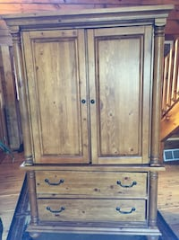 Solid knotty pine armoire