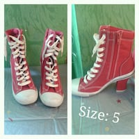 pair of red-and-white high top sneakers Barrie, L4M 5W8