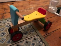 Super cute wooden get around tricycle. Very sturdy. Great condition  235 mi