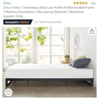 Zinus Trisha 7 Inch Heavy Duty Low Profile Platforma Bed Frame, King Rex, 30273