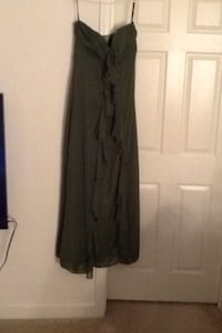 Strapless Formal Dress; Size 8; Olive Green Washington, 20019
