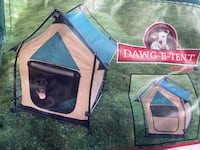 "Dog Portable Tent Model #DH22424  Size: 24""x24""x35"" up to 60 lbs. Baltimore, 21220"