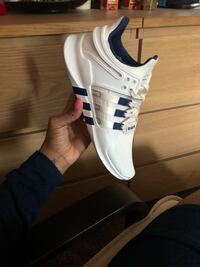 white and blue Adidas low top sneaker Ellicott City, 21042