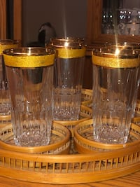 GOLD RIMMED GLASSWARE VINTAGE North Dumfries, N0B 1E0