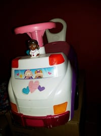 White, red, purple, and white Dr. McStuffins ride on toy car Athens, 35613