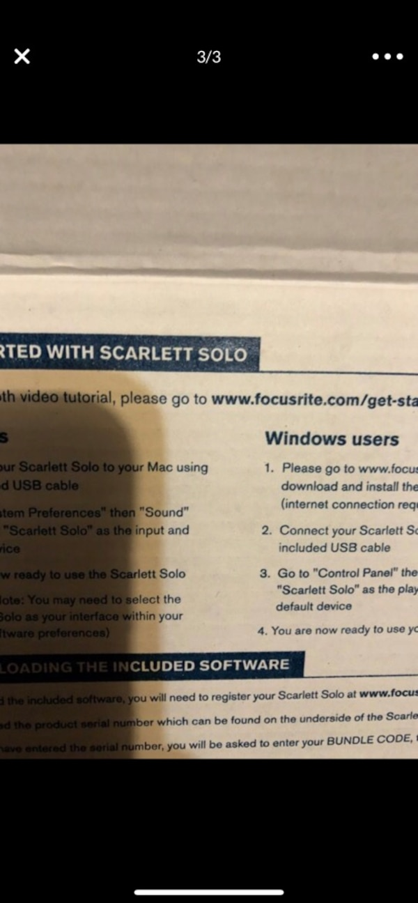 Scarlett solo 2 generation 2-in/2-out usb audio interface