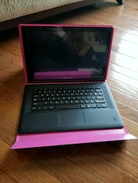 black and pink laptop computer 41 km